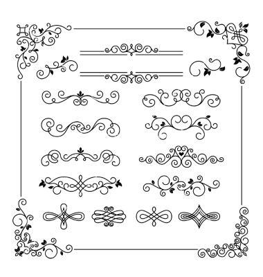 Vintage Frame Border Divider Corner Vector Hand Lettering Vintage Frames Mandala Design Pattern