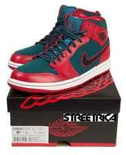 4f6476898c67c8 Nike Air Jordan Retro 1 Mid Gym Red Black Dark Sea Green Mens 633206 ...