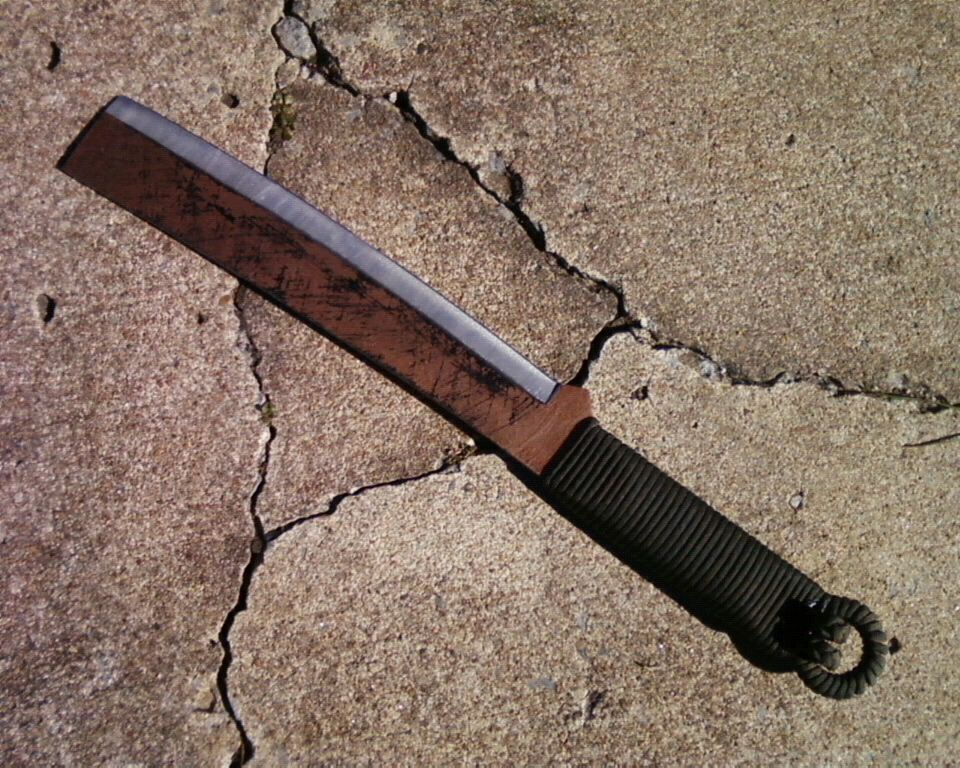 Lawn Mower Blade Knife : Lawnmower blade actually i m going to make a log