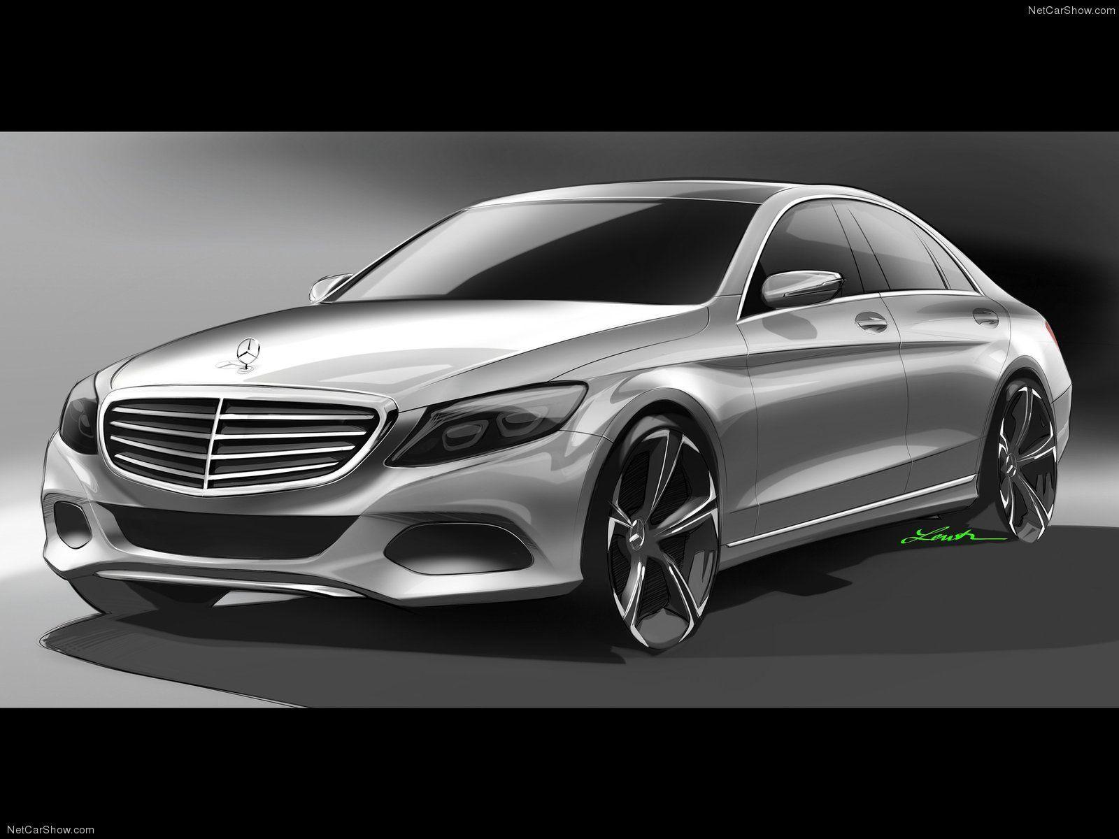 mercedes benz c class design sketch