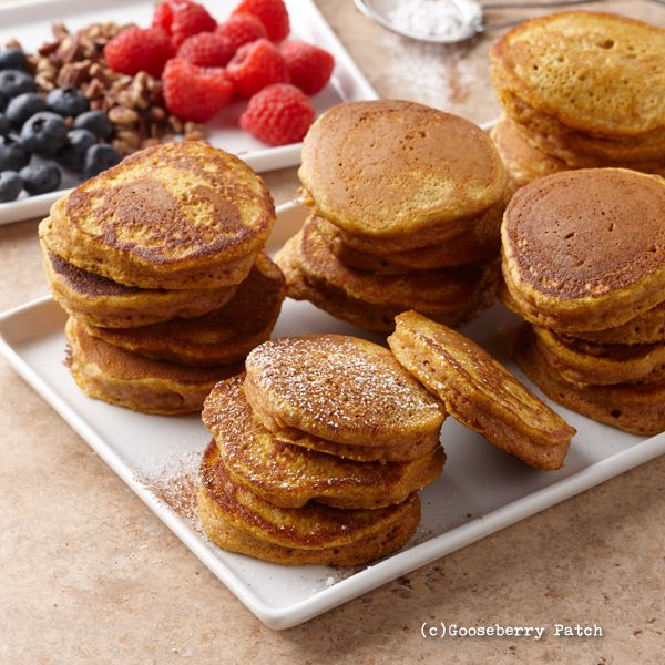 40 Delicious Brunch Recipes For Diabetics: Gooseberry Patch Recipes: Cinnamon-Pumpkin Pancakes From
