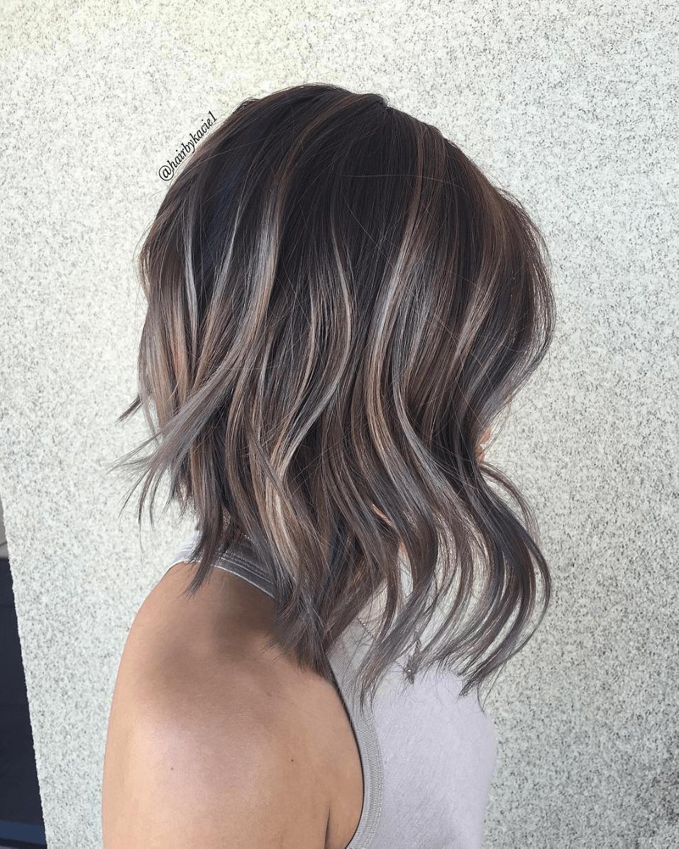 How To Smoky Mauve Brunette Behindthechair Com Hair Styles Dark Hair With Highlights Hair Highlights