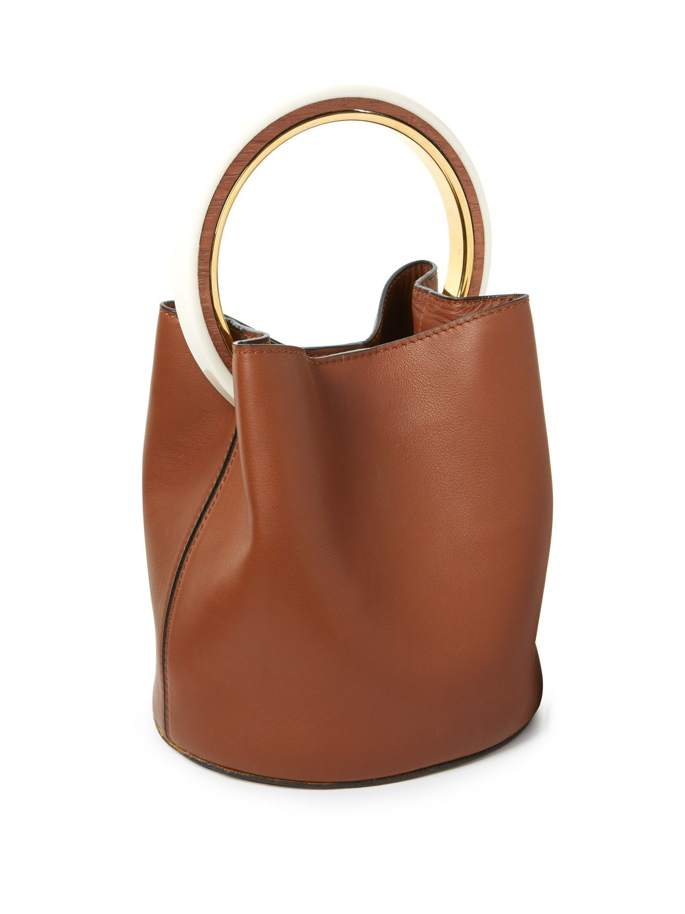 Marni round handled shoulder bag Outlet Ebay Cheap Hot Sale Discount Amazing Price 4KoTRq7O