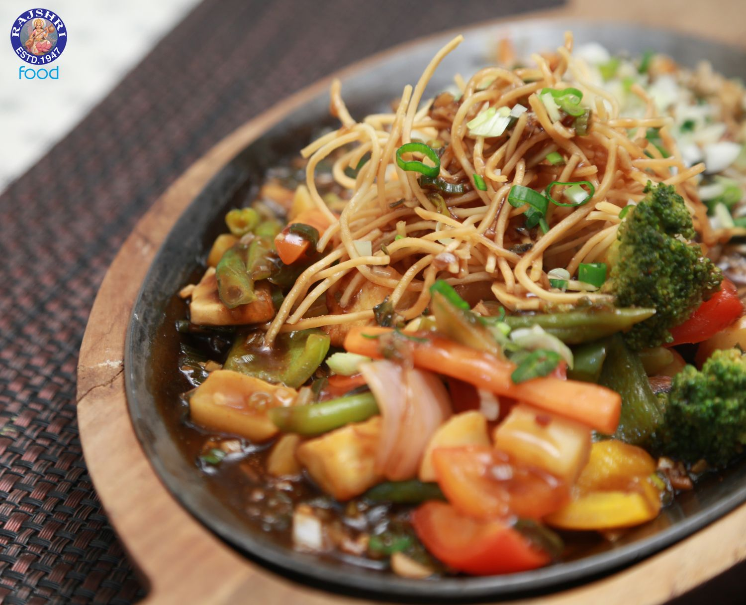 Veg sizzler in soya chilli sauce asian vegetable for Asian indian cuisine