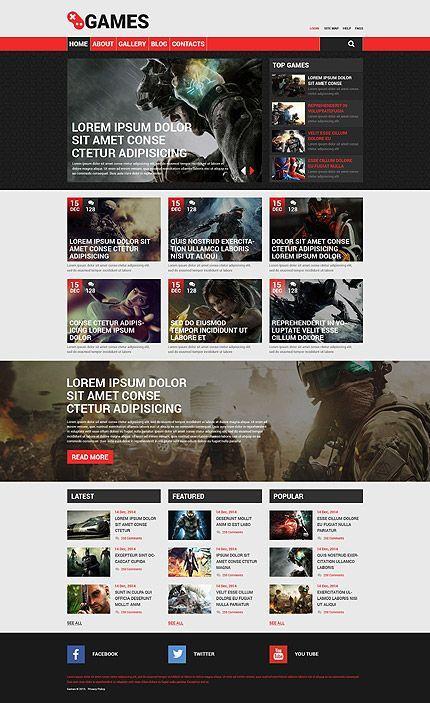 Games Most Popular Drupal Template 53753 Games Web Templates