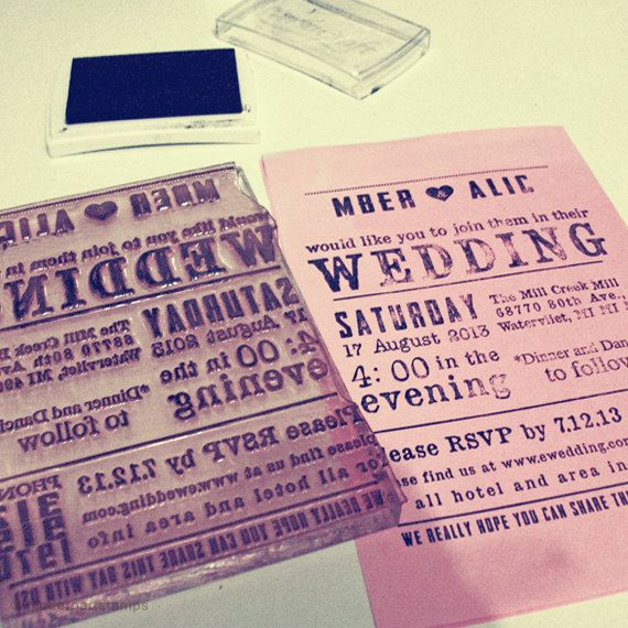 Custom Wedding Stamp Wedding Invitation Stamp by modernartstamps