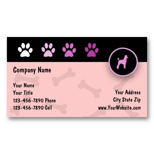 Pet Care Business Cards Zazzle Com Pet Care Business Pet