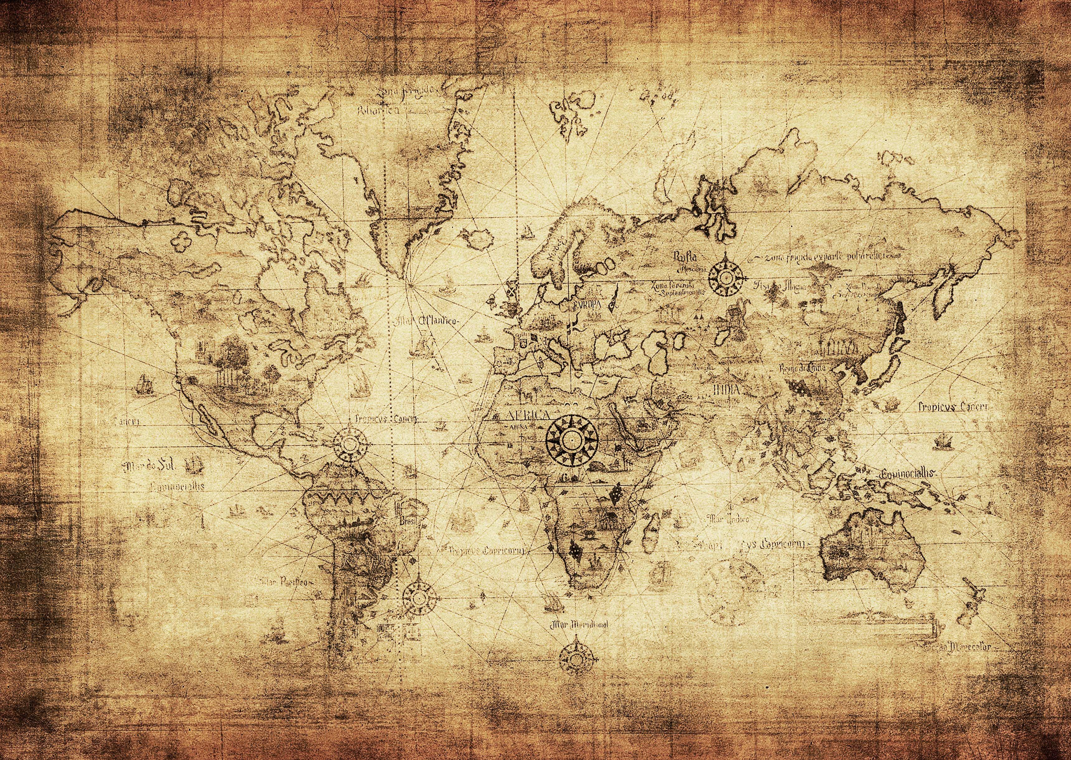 Mapa del mundo antiguo cosas para comprar pinterest - Laminas y posters decorativos ...