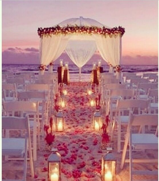 Night Beach Wedding Ceremony Ideas: She's Getting Married On The BEACH!