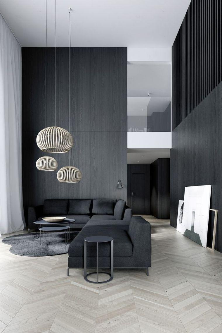 decoration de mur de salon idée de décoration murale de salon avec mur en noir