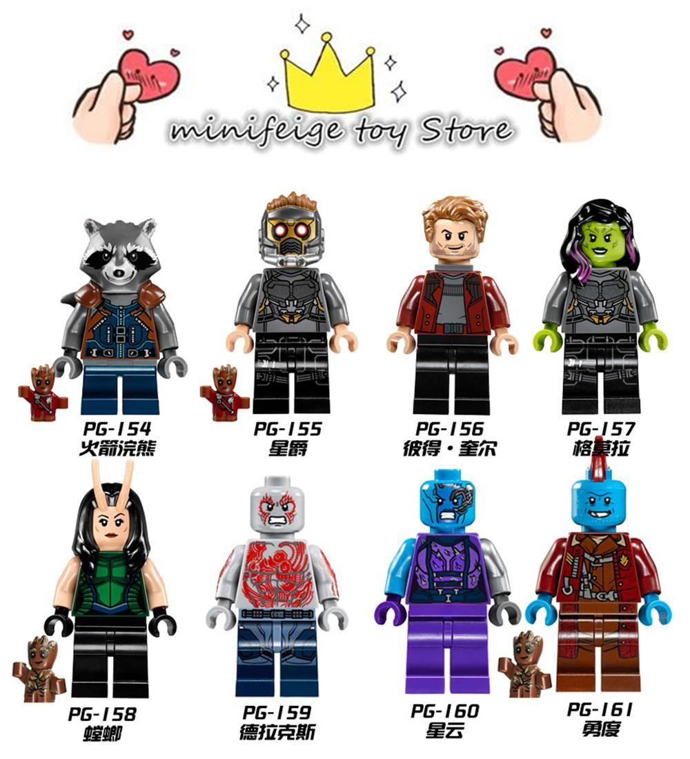 Marvel Super Heroes treeman Groot minifigure Avengers Infinity guerre Fit LEGO