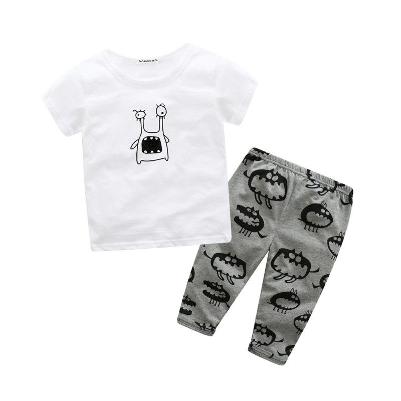 991d14893b241 Click to Buy    Toddler Kids Baby Boys Cute Cartoon Short Sleeve Printed T-shirt  Tops+Pants 2PCS Baby Sets  Affiliate.
