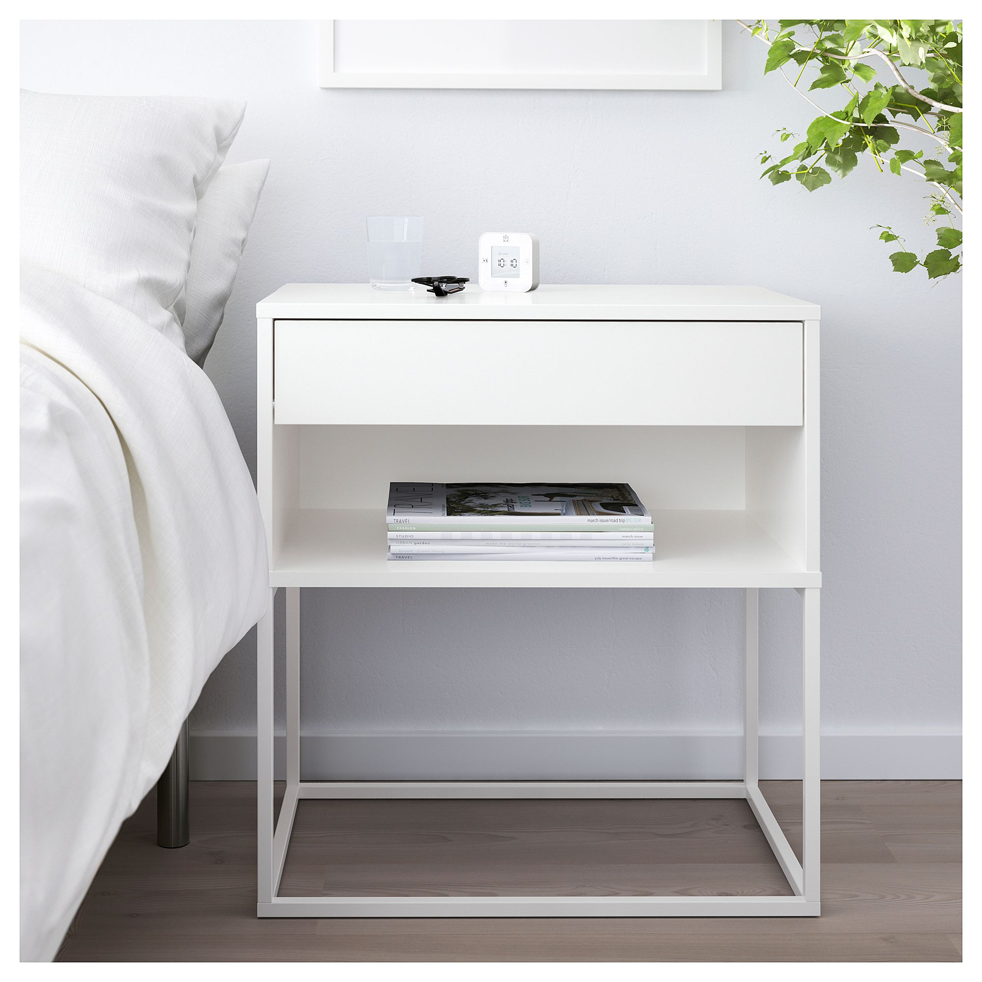 Ikea Nachttisch Metall Weiß