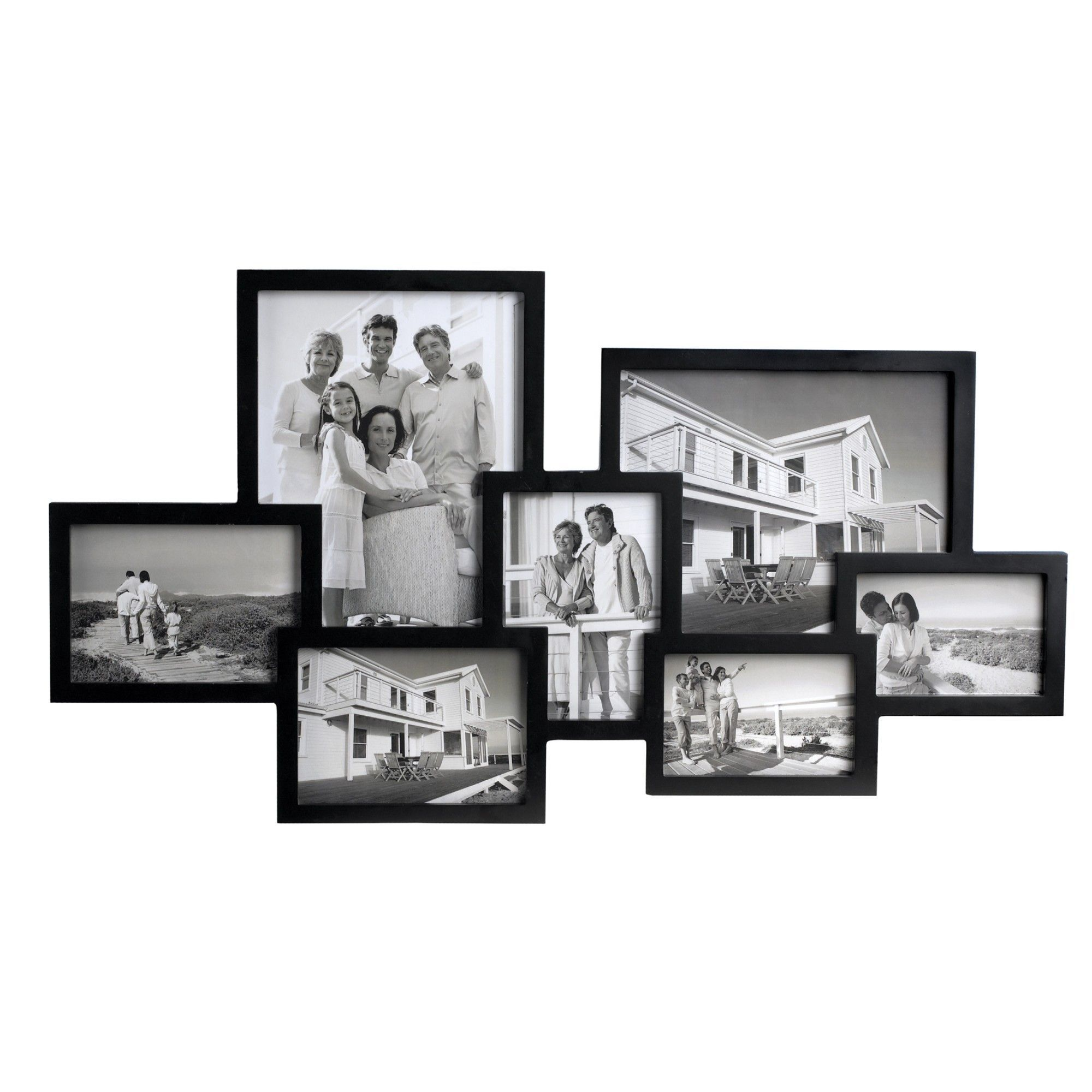 7 Piece Wall Picture Frame Set | Wall picture frames, Picture frame ...