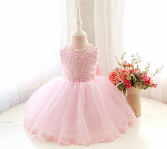 6747bf5d5bbc Fancy Baby Pink Sleeveless Pageant Dress, Infant Thanksgiving Dress, Baby  Christmas Dress, Toddler B