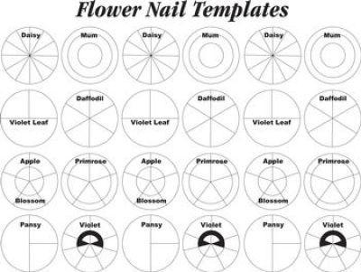 wilton flower nail templates cake cupcake decorating