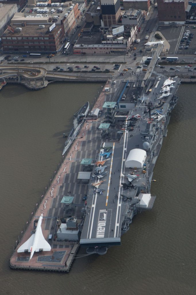 The USS Intrepid which is the center of New York City's