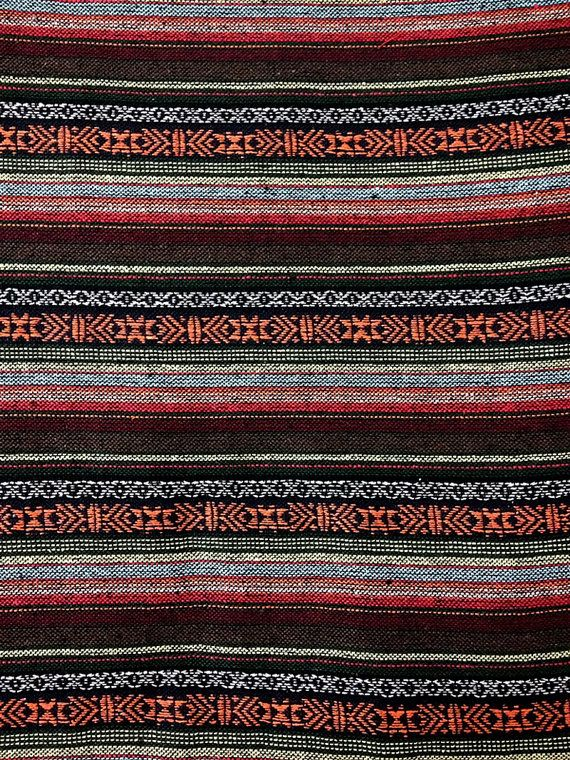 Thai Woven Fabric Tribal Fabric Cotton Fabric by the by veradashop