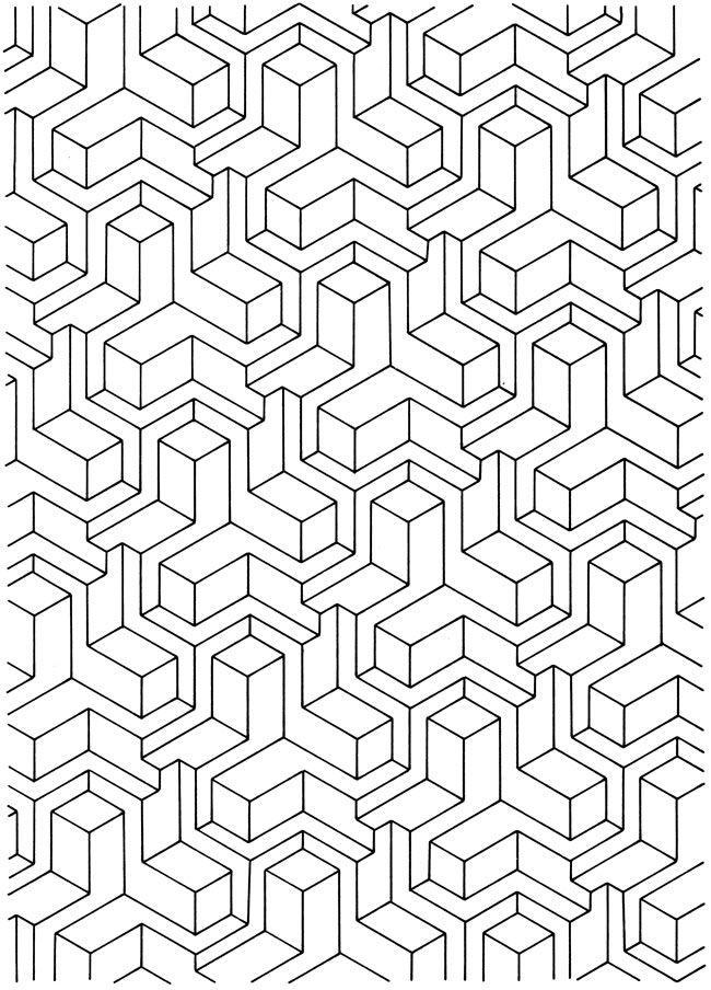 0 Bw Geometric Pattern
