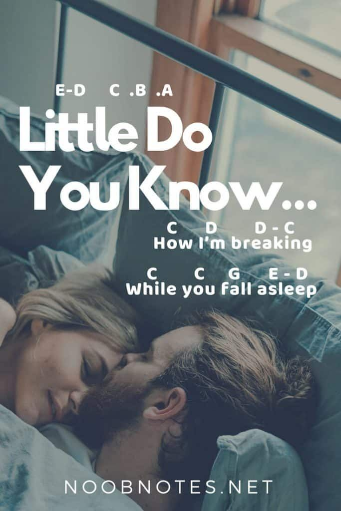 Little Do You Know - Alex & Sierra | Piano music easy. Piano songs for beginners. Easy piano sheet music