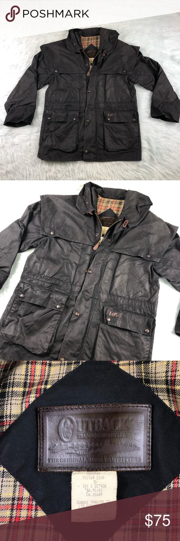 Outback Oilskin waxed swagman duster jacket Men's Duster