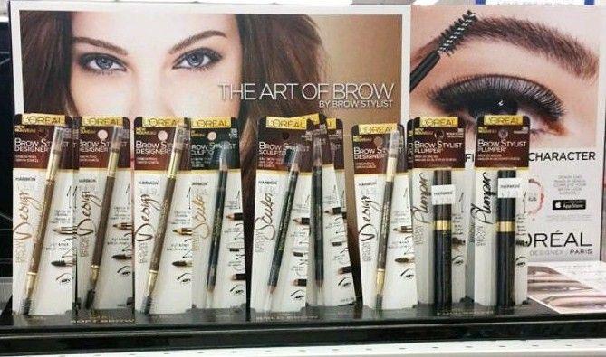 L'Oreal Brow Stylist Plumper Brow Fiber Mascara and pencil