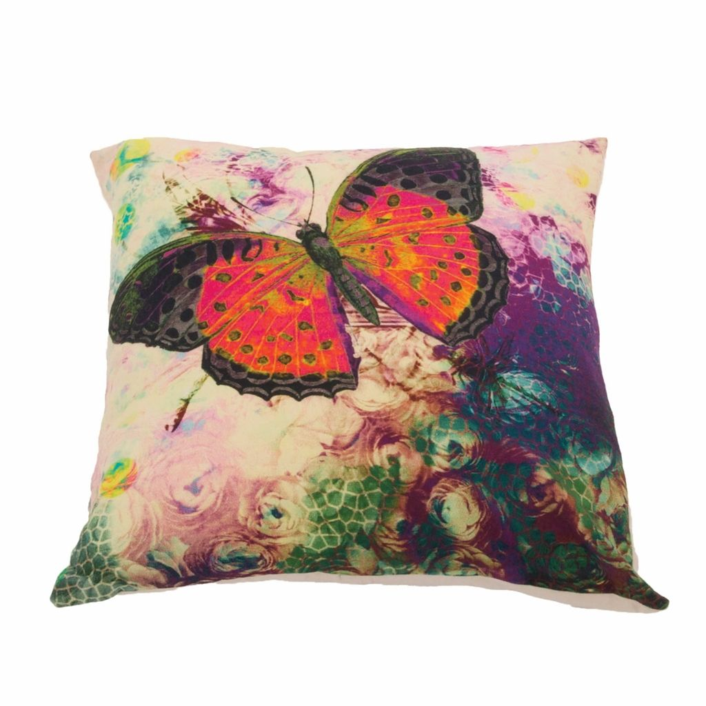 Butterfly print cushion cover electric boho bedroom pinterest