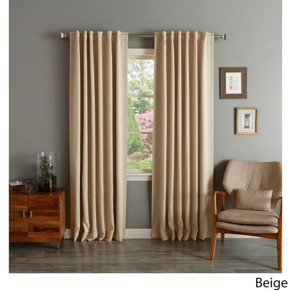 Insulated Thermal Blackout 84-inch Curtain Panel Pair - Overstock ...