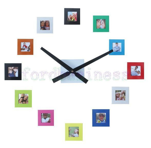 Modern 12 Photo Frame Wall Clock Family Picture Clocks Art Deco Watches Freepost Fordbusiness M Photo Wall Clocks Family Wall Clock Family Picture Frame Wall