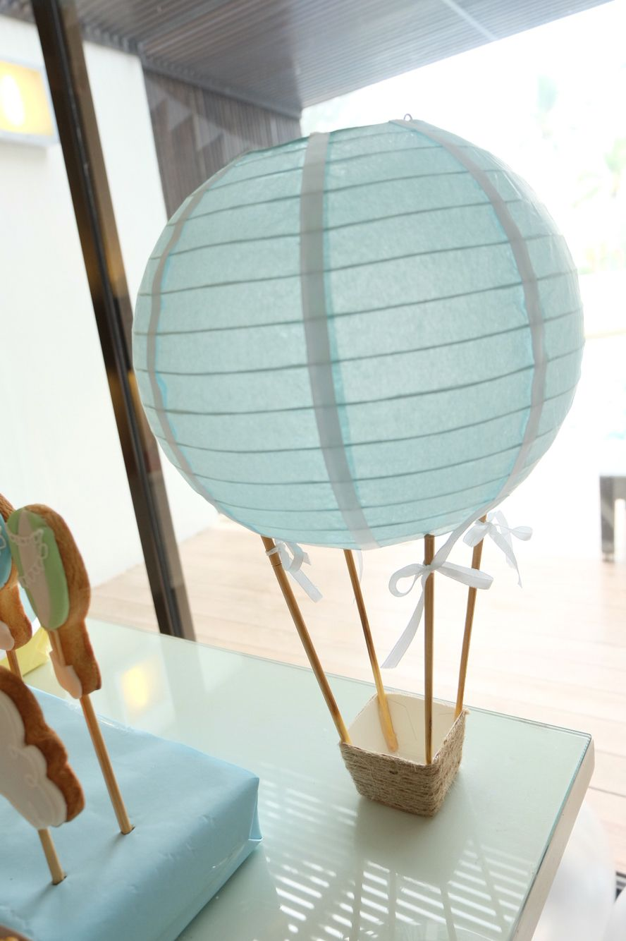 Diy Centerpiece Hot Air Balloon Balloon Baby Shower Centerpieces