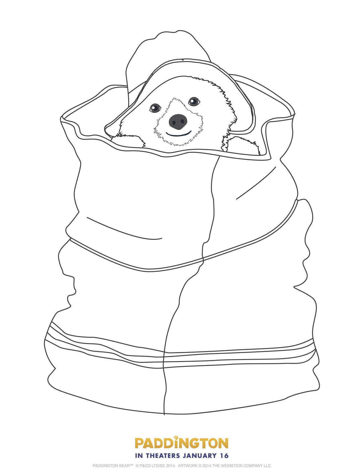 Paddington Bear Coloring Page Free Printable | coloring pages ...