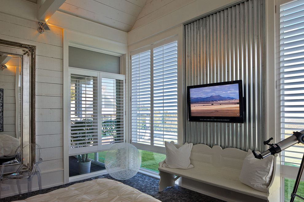 Corrugated metal accent wall Corrugated Metal in the Home