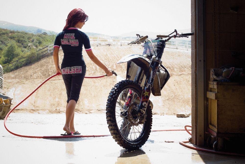 Metal Mulisha Maiden Washing Dirt Bike Motocross Does She Cook