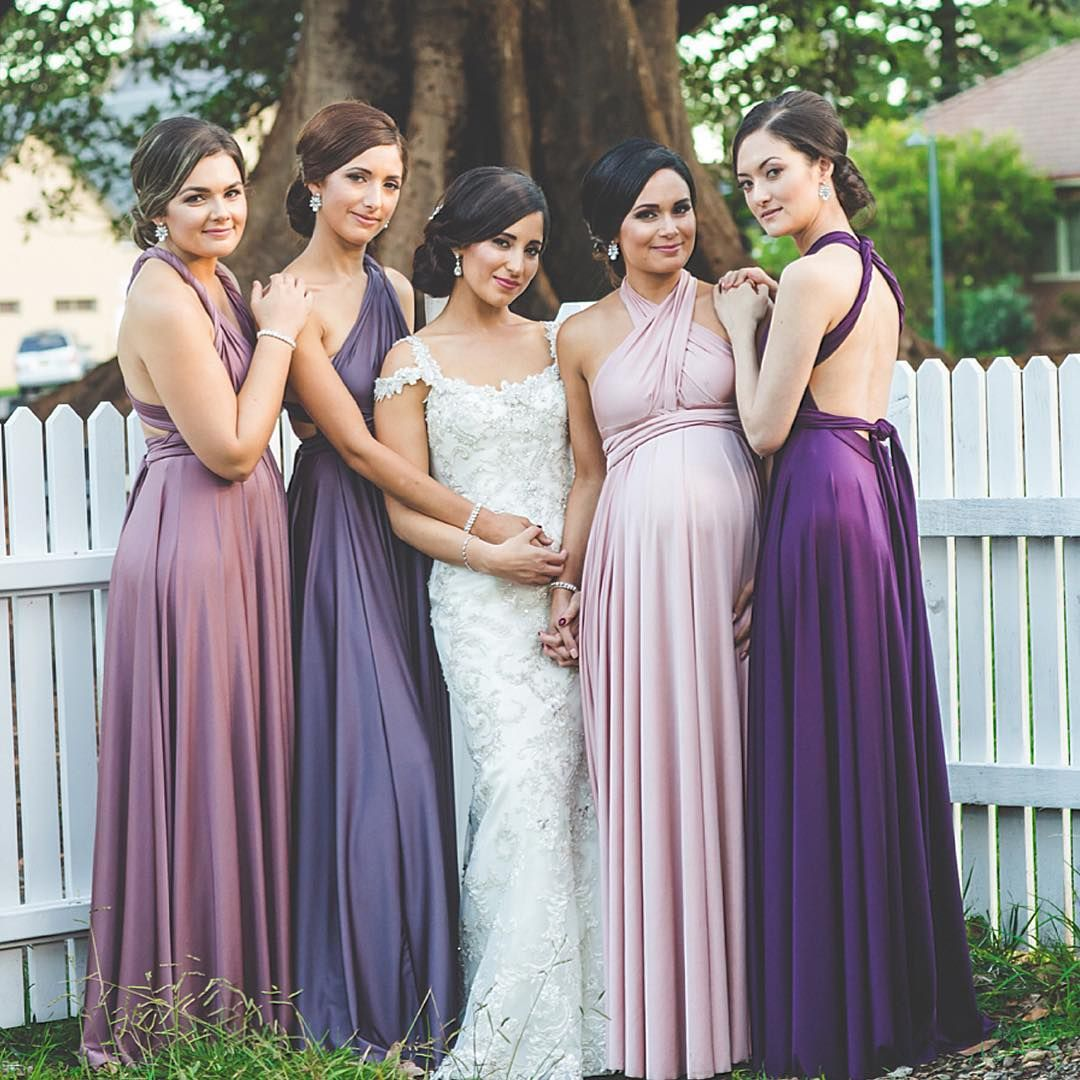Who says all the bridesmaids need to wear the same colour look at bridesmaids wearing our multiway gowns in different shades ombrellifo Choice Image