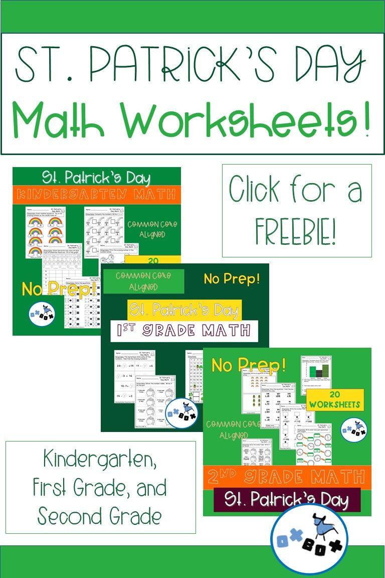 St Patrick S Day Worksheets Freebie Math Worksheets Real Life Math Math [ 1152 x 768 Pixel ]