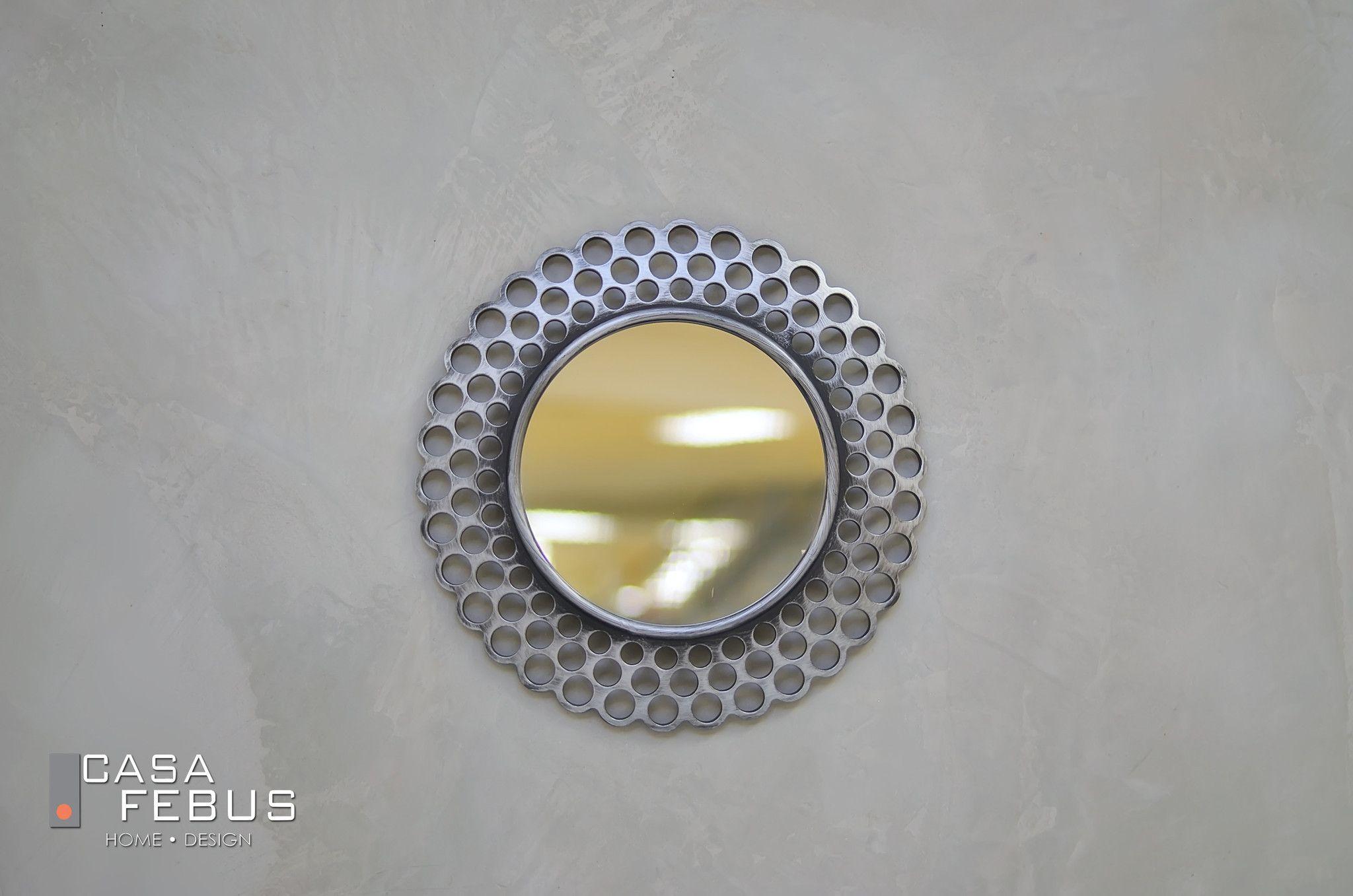 "16"" Reminiscence Round Mirror - Silver"