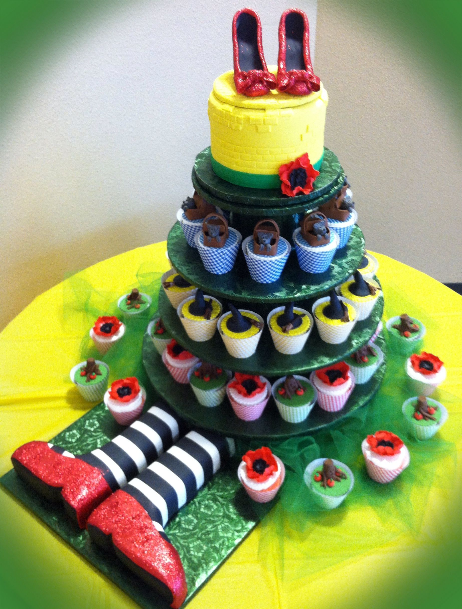 Wizard Of Oz Cake And Cupcakes Cakes Etc In 2019 Cupcake Cakes