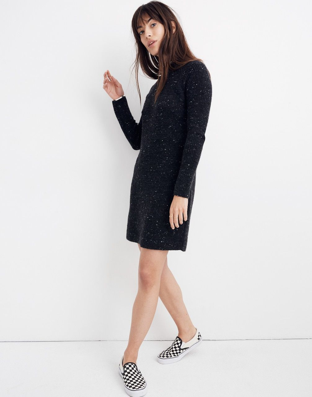 8a690e46d1c Donegal Northfield Mockneck Sweater-Dress in Coziest Yarn in donegal storm  image 1