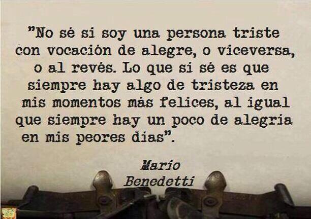 Poema Defensa De La Alegria Mario Benedetti Pin En Frases