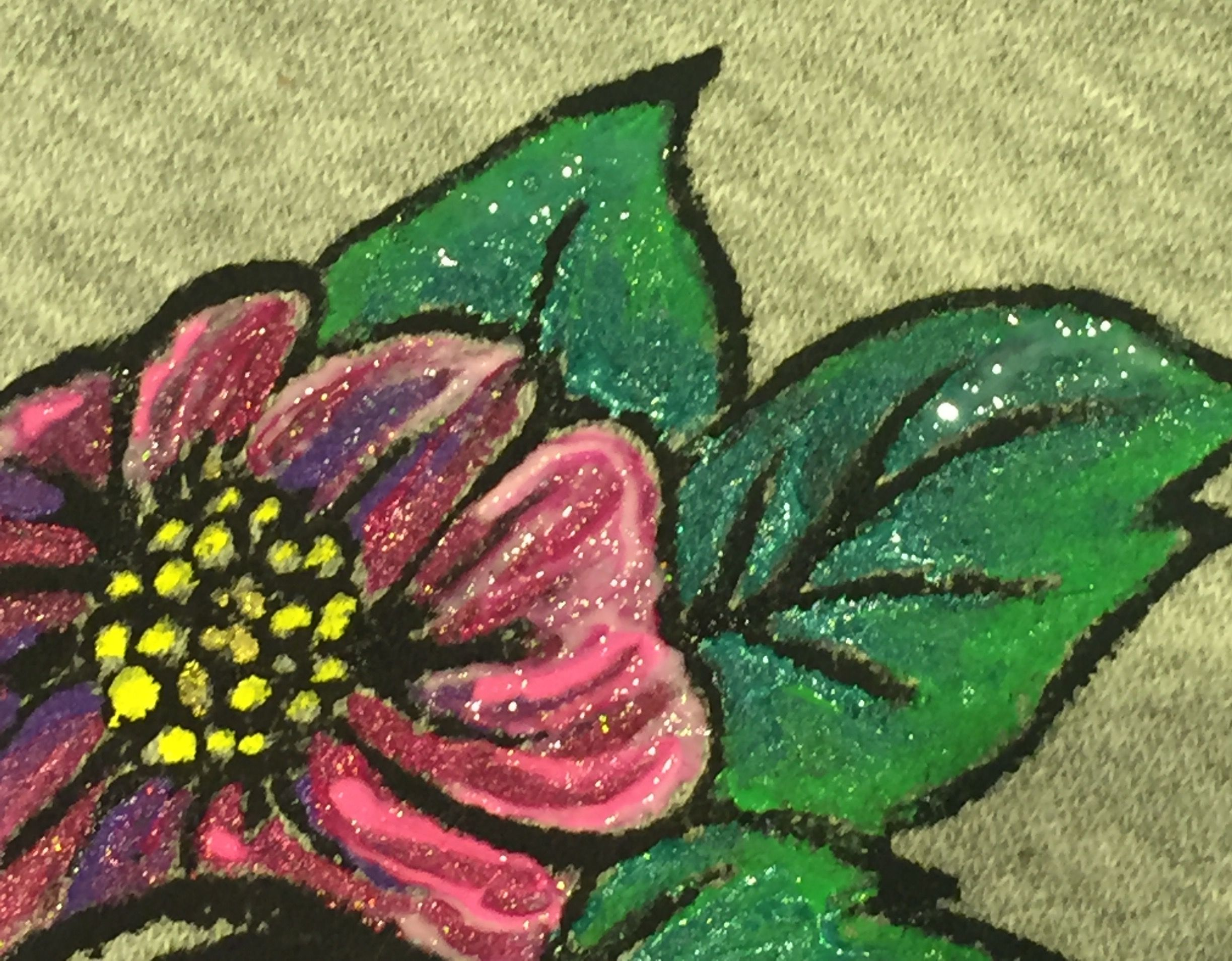 Hand appliquéd, and painted jumper. Customised for the