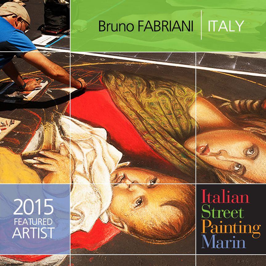 Bruno Fabriani brings his amazing art from Italy back to San Rafael this June 27-28 at Italian Street Painting Marin's Carnevale di Venezia! #chalkartist #Madonnaro #Italy #fineart