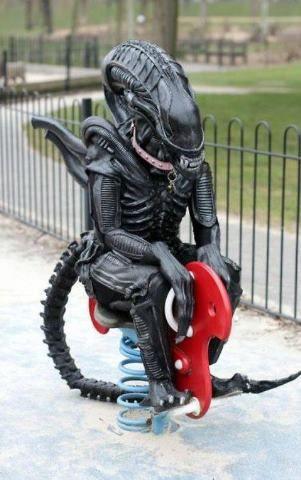 Alien in the playground