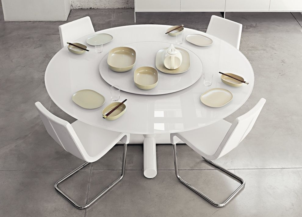 Awesome Elegant Modern Round Dining Table Sets Tasty Modern White