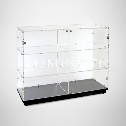 Superb Clear Acrylic Display Cabinet With Locking Doors And Black Download Free Architecture Designs Embacsunscenecom