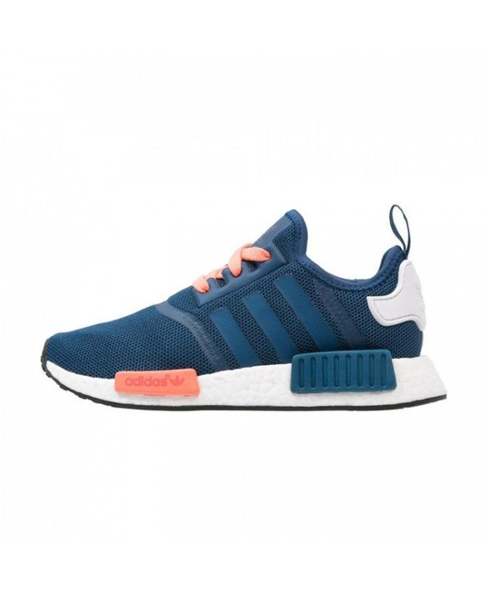 74ee306da Adidas NMD R1 Runner J Gs Blue Peach White Trainers Sale UK