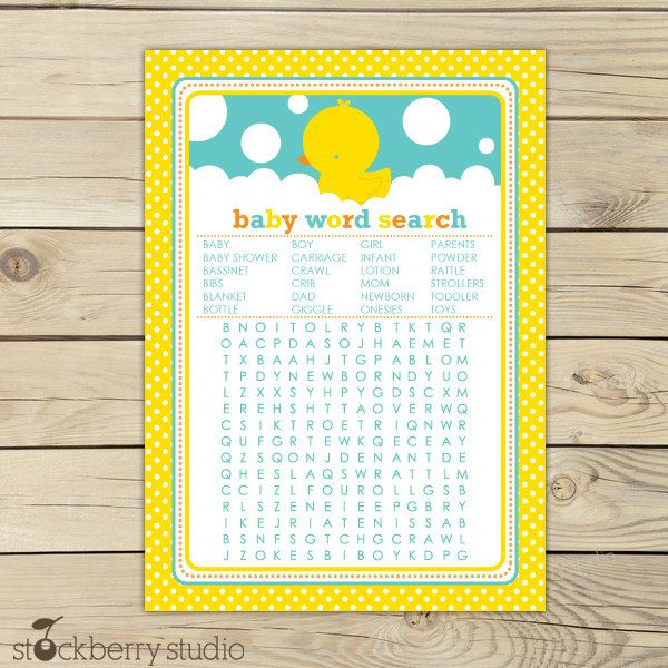 Baby Shower Custom Baby Shower Crossword Puzzle Game Inspirations