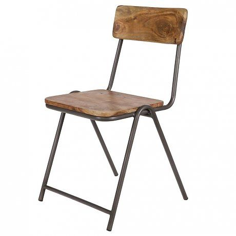 lef collections esszimmerstuhl indi aus holz metall 51x42x80cm k chenideen pinterest. Black Bedroom Furniture Sets. Home Design Ideas