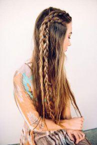 Düz Saçlar İçin Örgü Modelleri