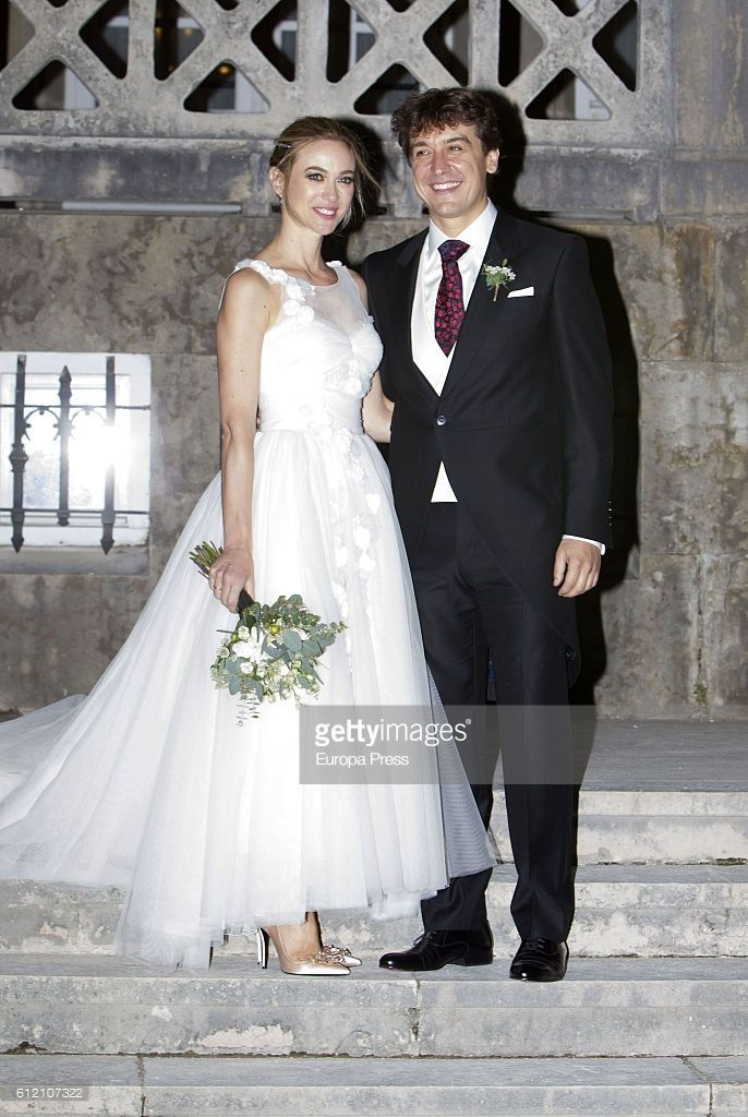 Marta Hazas and Javier Veiga attend their wedding ceremony