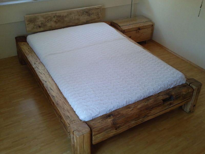 Bettkasten Holz ~ Balkenbett aus altem holz beams woods and bedrooms